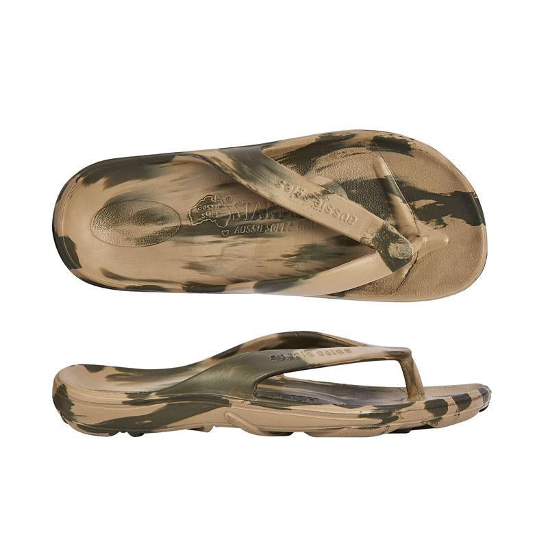 Starfish Orthotic Thongs - Camo Green - Aussie Soles