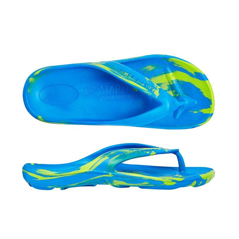 Starfish Orthotic Thongs - Blue/Green - Aussie Soles