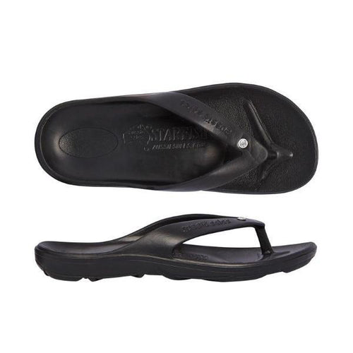 Starfish Orthotic Thongs - Black/Diamante - Aussie Soles