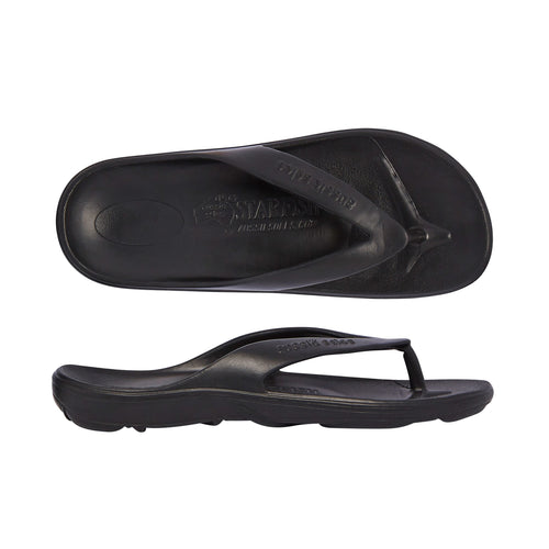 Starfish Orthotic Thongs - Black - Aussie Soles
