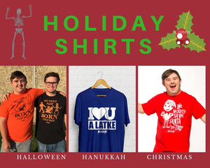 Holiday Shirts Halloween Hanukkah Christmas