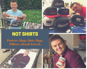 Not Shirts But Pretty Cool Stuff Like Mugs, Posters Hats, Bags, Pillows, Beach Towels