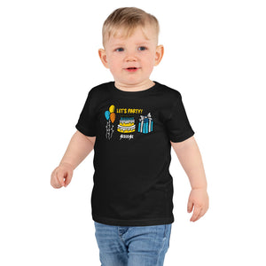 Toddler Short sleeve kids t-shirt---Birthday Let's Party---Click for More Shirt Colors