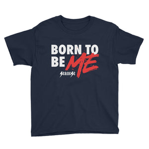 Youth Short Sleeve T-Shirt---Born to Be Me---Click to see more shirt colors