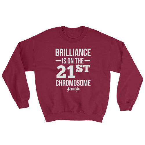 Sweatshirt---Brilliance White Design---Click for more shirt colors