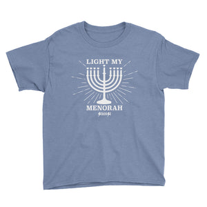 Youth Short Sleeve T-Shirt---Light My Menorah