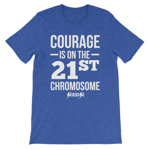 Unisex short sleeve t-shirt---Courage White Design---Click for more shirt colors