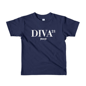 Toddler Short sleeve kids t-shirt---21 Diva---Click for more shirt colors