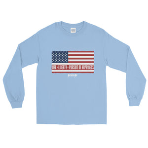 Long Sleeve T-Shirt---Short-Sleeve Unisex T-Shirt---Life, Liberty, Pursuit of Happiness---Click for more shirt colors