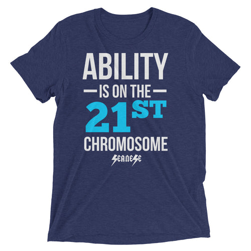 Upgraded Soft Short sleeve t-shirt---Ability Blue/White Design---Click for more shirt colors