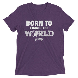 Upgraded Soft Short sleeve t-shirt---Born To Change The World---Click for more shirt colors