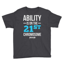 Youth Short Sleeve T-Shirt---Ability Blue/White Design---Click for more shirt colors