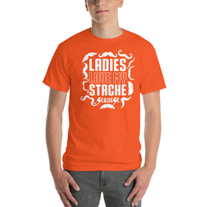 Short Sleeve T-Shirt  Thick Cotton to Make Dad Happy---Ladies Love My Stache---Click for more shirt colors