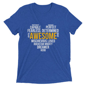 Upgraded Soft Short sleeve t-shirt---Awesome Heart Word Art---Click for more shirt colors