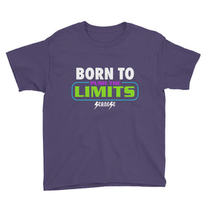 Youth Short Sleeve T-Shirt---Born to Push the Limits---Click for more shirt colors