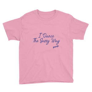Youth Short Sleeve T-Shirt---Simple Dance Sassy Purple Design---Click for more shirt colors
