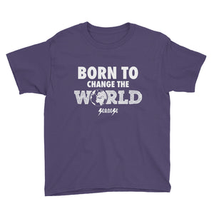 Youth Short Sleeve T-Shirt---Born To Change The World---Click for more shirt colors