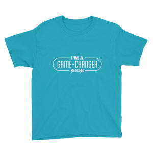 Youth Short Sleeve T-Shirt---I'm A Game-Changer---Click for more shirt colors