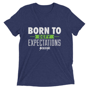 Upgraded Soft Short sleeve t-shirt---Born to Defy Expectations---Click for more shirt colors