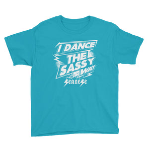 Youth Short Sleeve T-Shirt---Dance Sassy White Design---Click for more shirt colors