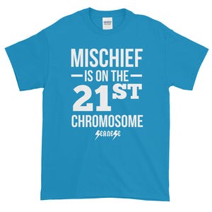 Short sleeve t-shirt Thick Cotton to Make Dad Happy---Mischief---Click for more shirt colors