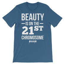 Unisex short sleeve t-shirt---Beauty White Design---Click for more shirt colors