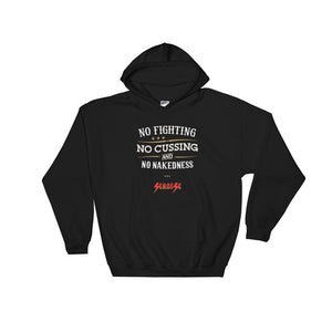 Hooded Sweatshirt---No Fighting White Design---Click for more shirt colors