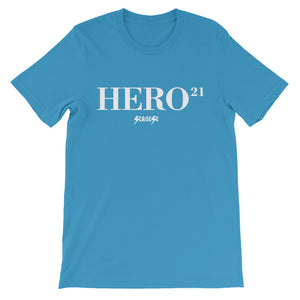 Unisex short sleeve t-shirt---21Hero---Click for more shirt colors