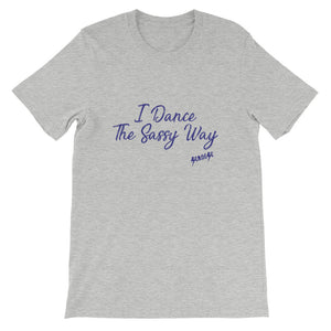 Short-Sleeve Unisex T-Shirt---Simple Dance Sassy Purple Design---Click for more shirt colors