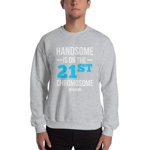 Sweatshirt---Handsome Blue/White Design---Click for more shirt colors