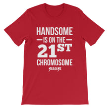 Unisex short sleeve t-shirt---Handsome White Design---Click for more shirt colors