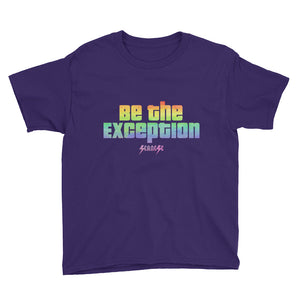 Youth Short Sleeve T-Shirt---Be The Exception---Click for more shirt colors