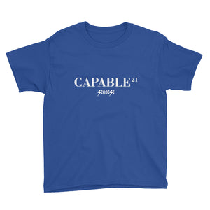 Youth Short Sleeve T-Shirt---21Capable---Click for more shirt colors