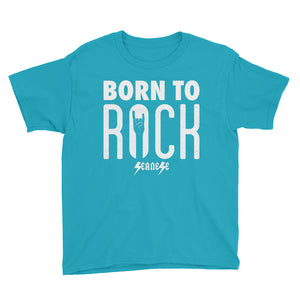 Youth Short Sleeve T-Shirt---Born To Rock---Click for more shirt colors