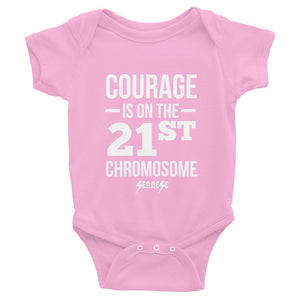 Infant Bodysuit---Courage White Design---Click for more shirt colors