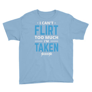 Youth Short Sleeve T-Shirt---Can't Flirt Too Much Boy--Click for more shirt colors