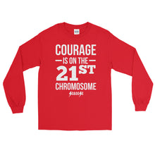 Long Sleeve WARM T-Shirt---Courage White Design---Click for more shirt colors