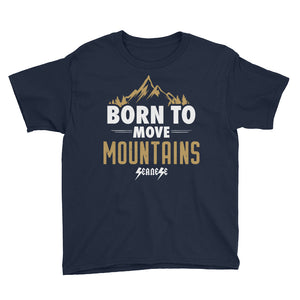 Youth Short Sleeve T-Shirt---Born to Move Mountains---Click for more shirt colors