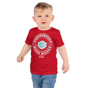 Toddler Short sleeve kids t-shirt---SuperheroeS Wear Masks---Click for more shirt colors