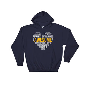 Hooded Sweatshirt---Awesome Heart Word Art---Click for more shirt colors
