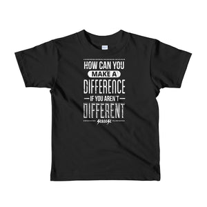 Toddler Short sleeve kids t-shirt---How Can You Make a Difference---Click for more shirt colors