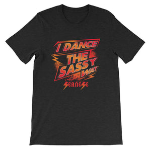 Short-Sleeve Unisex T-Shirt---Dance Sassy Red/Orange Design---Click for more shirt colors