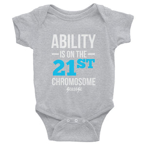 Infant Bodysuit---Ability Blue/White Design---Click for more shirt colors