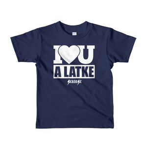Toddler Short sleeve kids t-shirt---I Love You A Latke