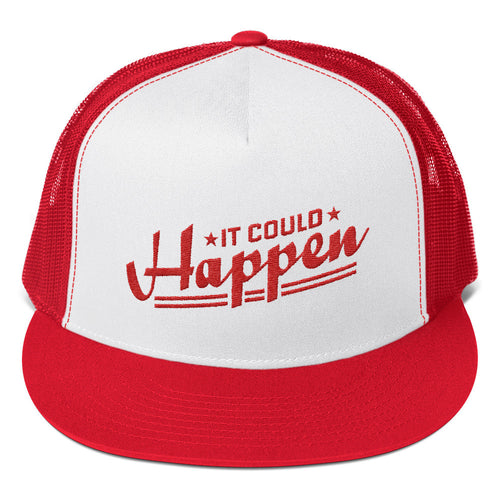 Trucker Cap---It Could Happen Red Design--Click for white