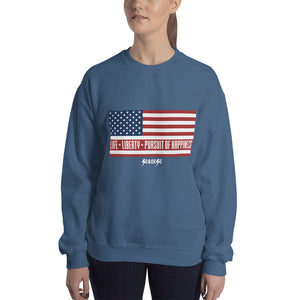 SweatshirtShort---Life, Liberty, Pursuit of Happiness---Click for more shirt colors