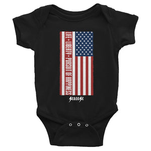 Infant Bodysuit---Vertical Life Liberty Pursuit of Happiness---Click for more shirt colors