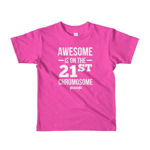 Toddler Short sleeve kids t-shirt---Awesome White Design---Click for more shirt colors