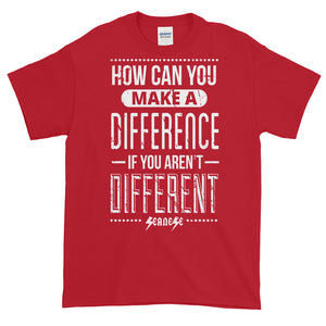 Short-Sleeve T-Shirt Thick Cotton to Make Dad Happy---How Can You Make a Difference---Click for more shirt colors