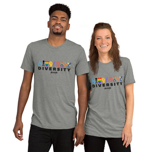 Upgraded Soft Short Sleeve t-shirt---Diversity---Click for more shirt colors